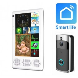 Panou multifunctional Android Smart Life/Tuya MixPad, Sonerie video usa, Control casa inteligenta Tuya/Smart Life