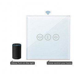 Întrerupător Touch Screen Tactil Cortina WIFI Direct - Compatibil Google Home si Amazon Alexa